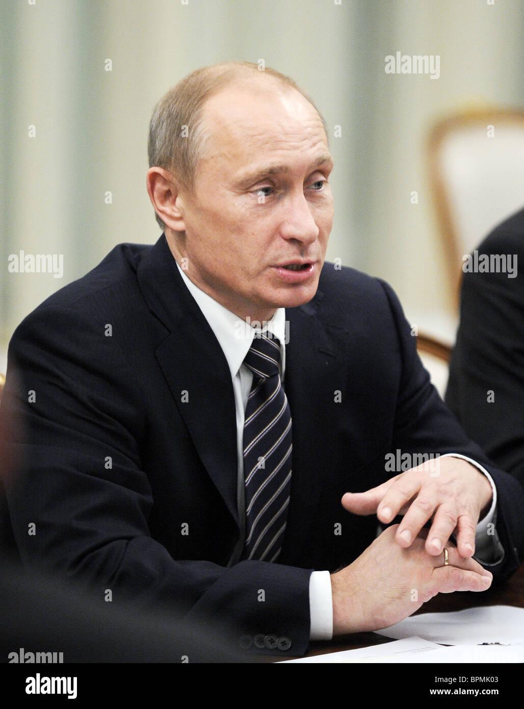 Putin meets Siemens CEO Peter Loescher - Stock Image