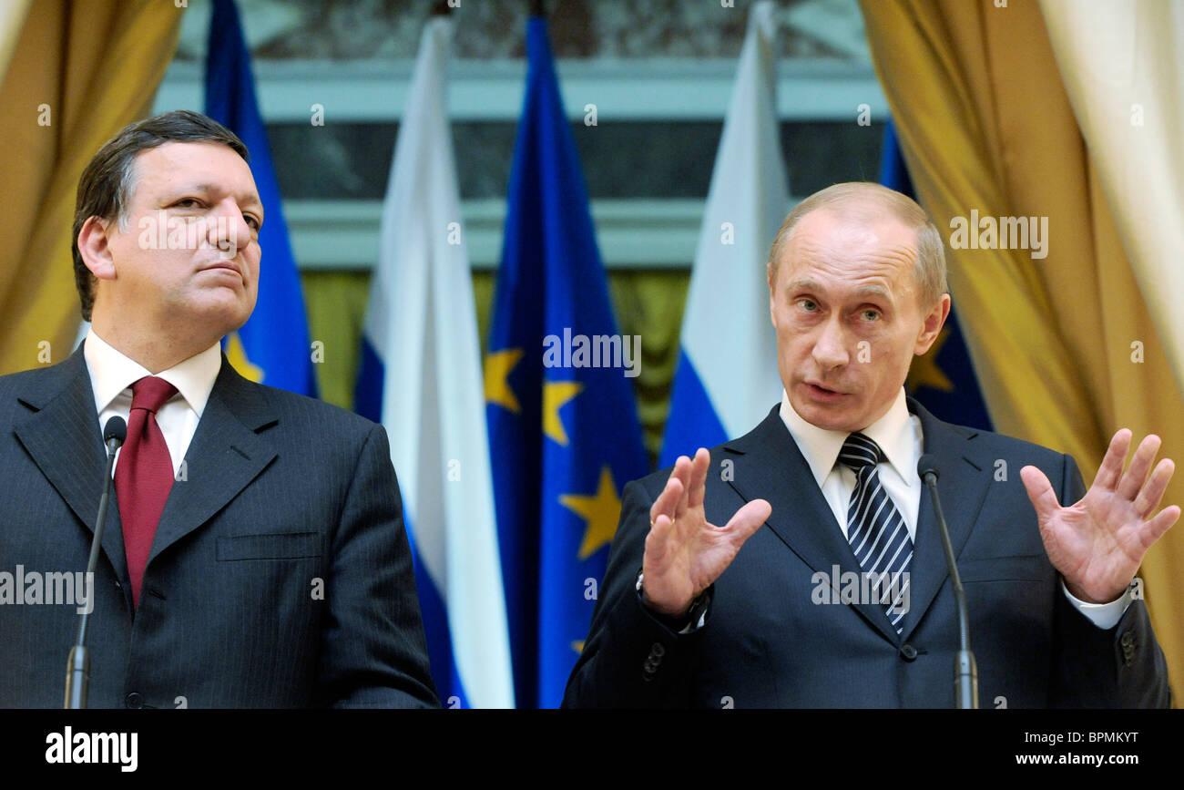 Putin and Barroso meet for talks - Stock Image