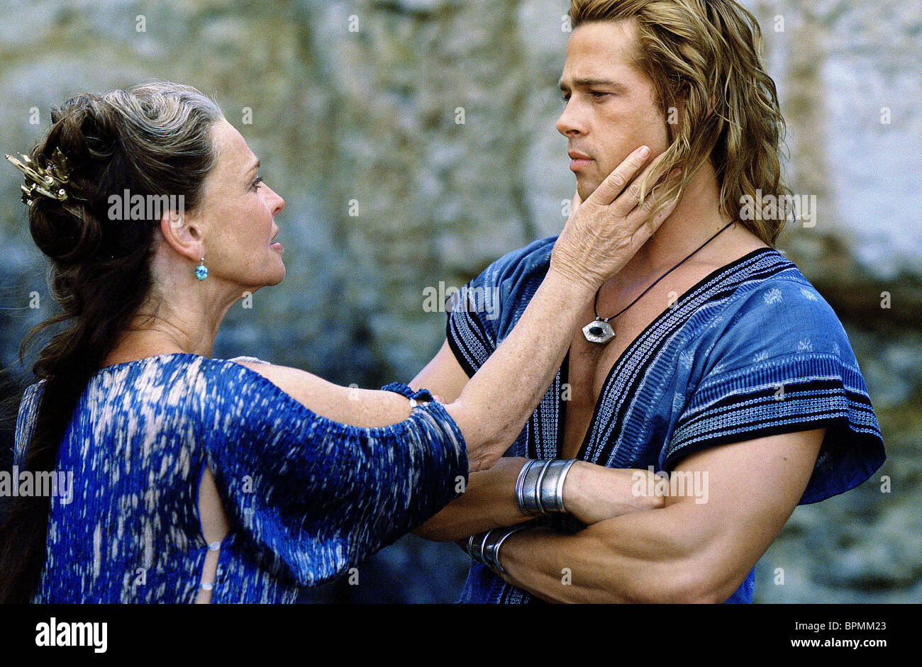 JULIE CHRISTIE & BRAD PITT TROY (2004) - Stock Image
