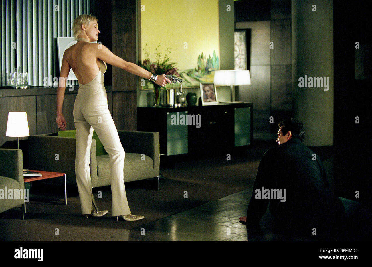 Sharon Stone Benjamin Bratt Catwoman 2004 Stock Photo 31187889