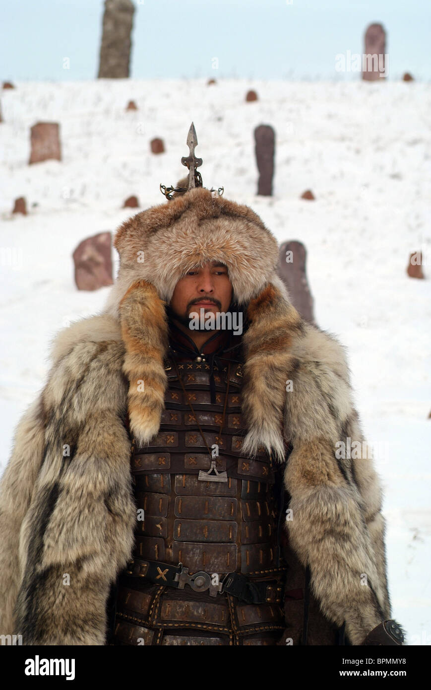 Shots form Andrei Borisov's historical epic drama The Mystery of Genghis Khan - Stock Image
