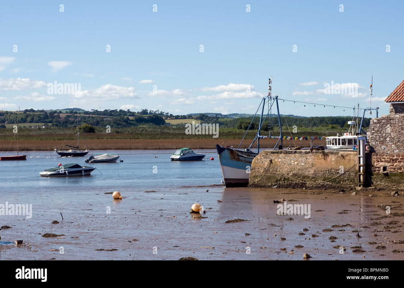 The Exe Estuary at Topsham near Exeter Devon England Stock Photo