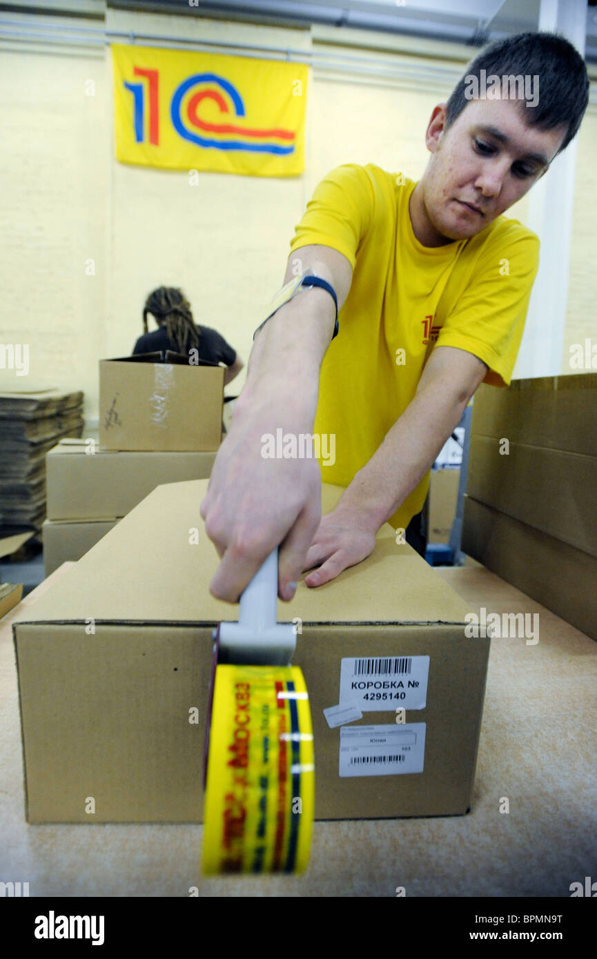 Logistic center of 1C software developer in operation - Stock Image