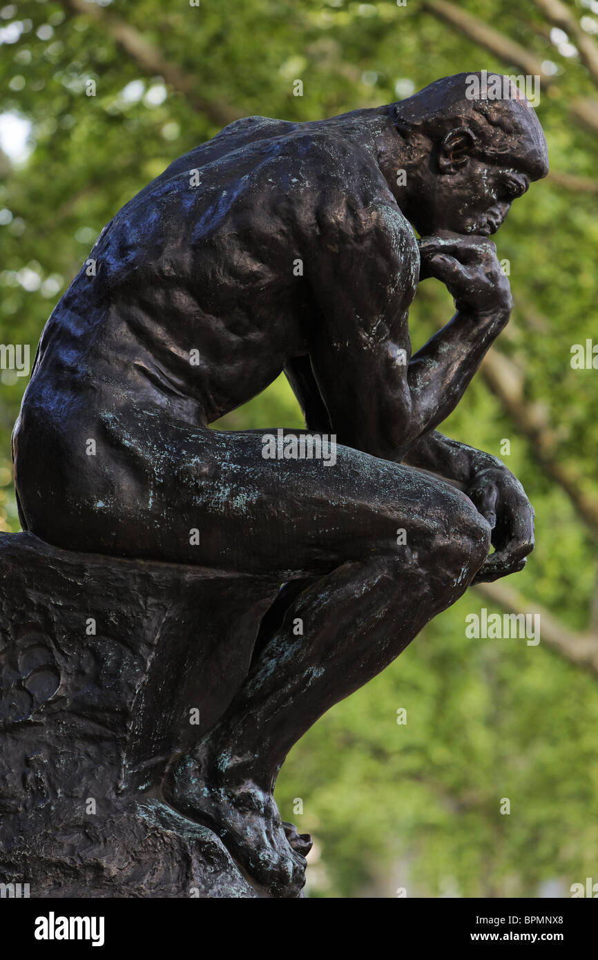 The Thinker, Rodin Museum, Philadelphia, Pennsylvania, USA - Stock Image