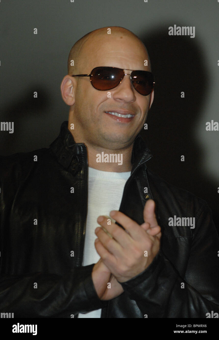 Hollywood star Vin Diesel attends Russian premiere of Fast & Furious 2009 Stock Photo