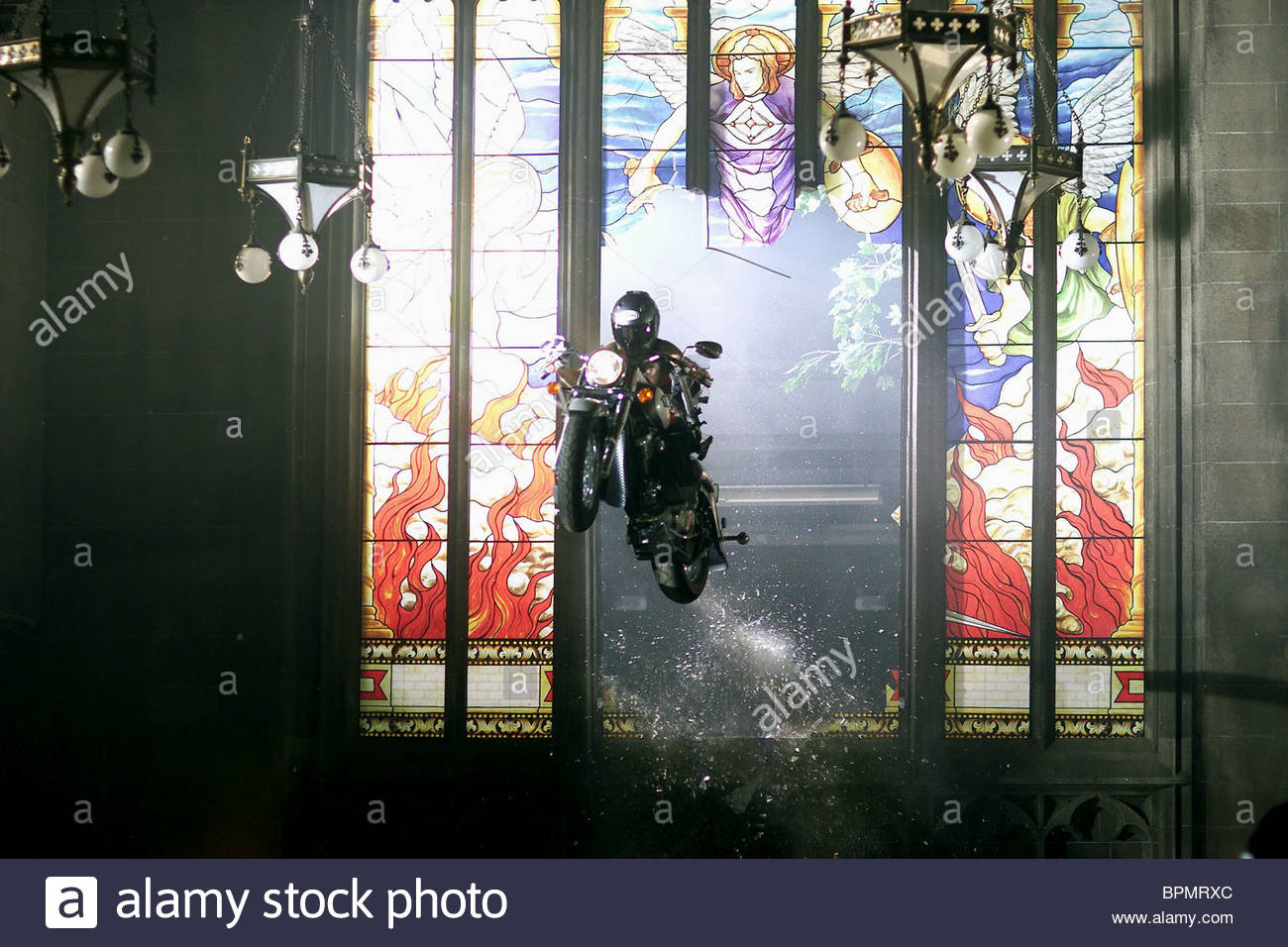 Motorcycle Smashes Through Stained Glass Window Film Title Resident