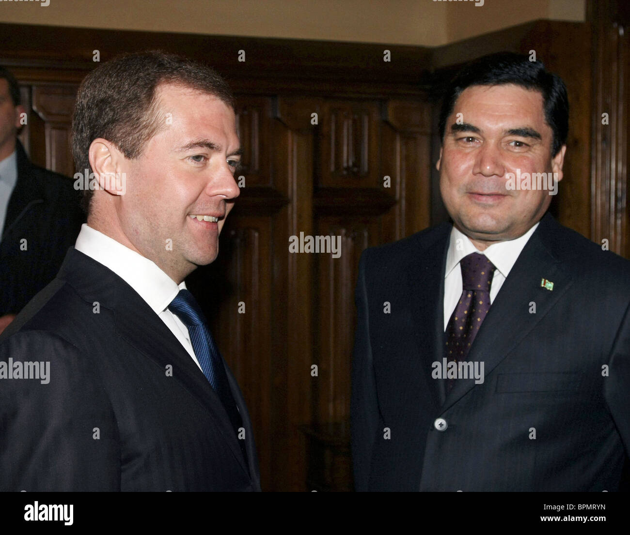 Turkmen president on official visit to Russia - Stock Image