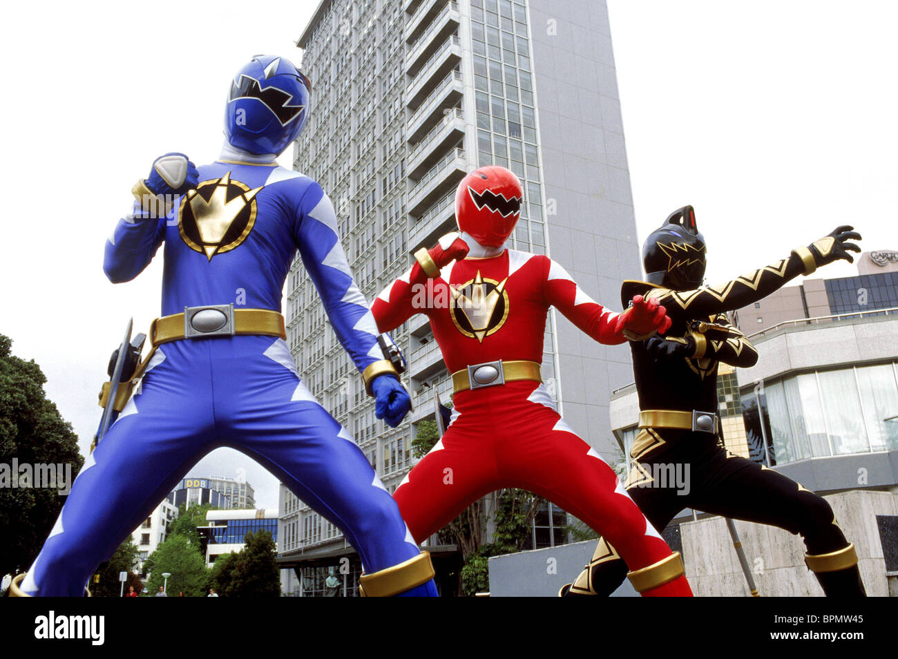 BLUE DINO RANGER RED DINO RANGER & BLACK DINO RANGER POWER RANGERS Stock Photo: 31191557