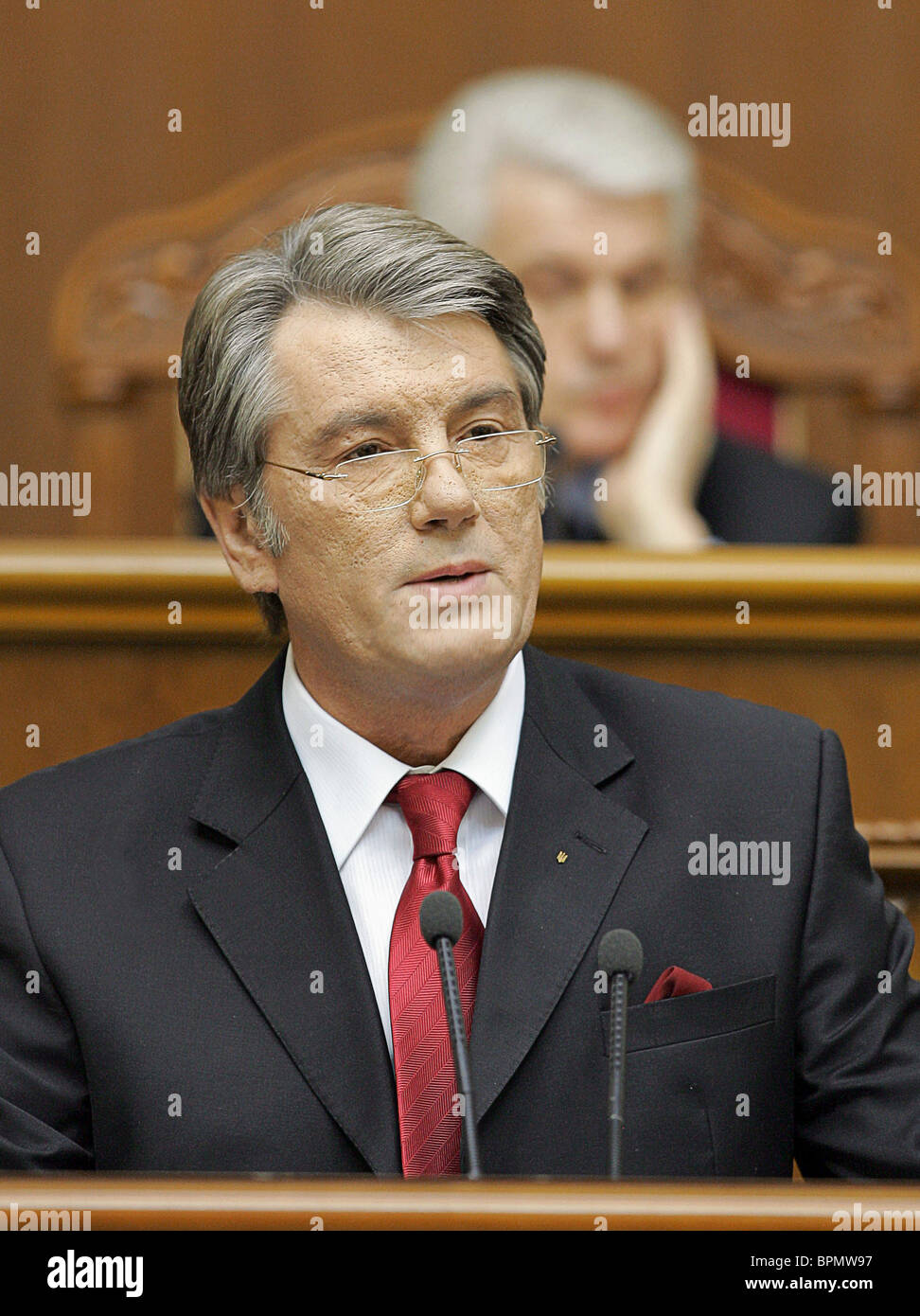 Ukraine's Yushchenko pitches proposal for change of constitution - Stock Image