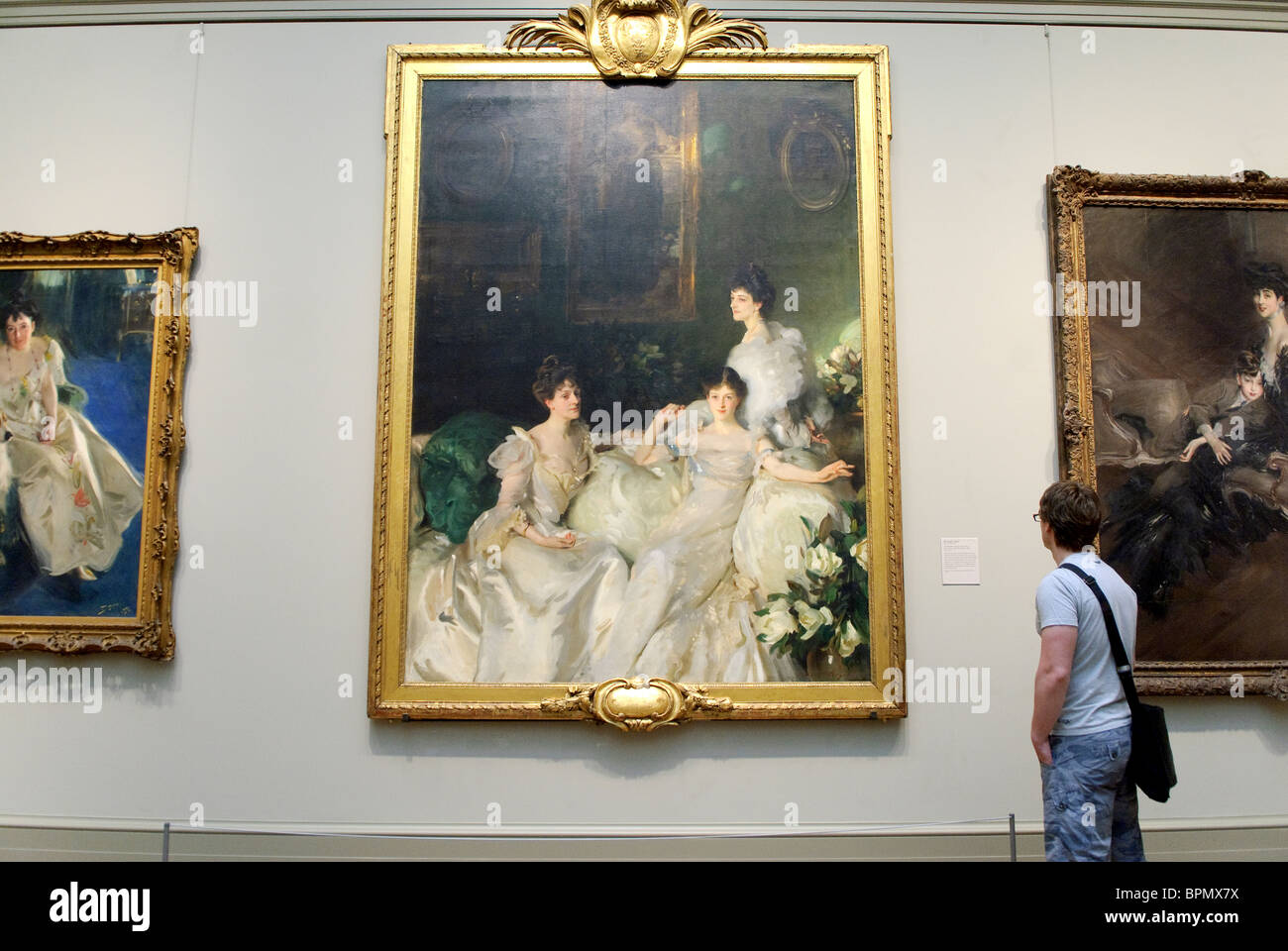 The Wyndham Sisters: Lady Elcho, Mrs. Adeane, and Mrs. Tennant, 1899, by John Singer Sargent - Stock Image