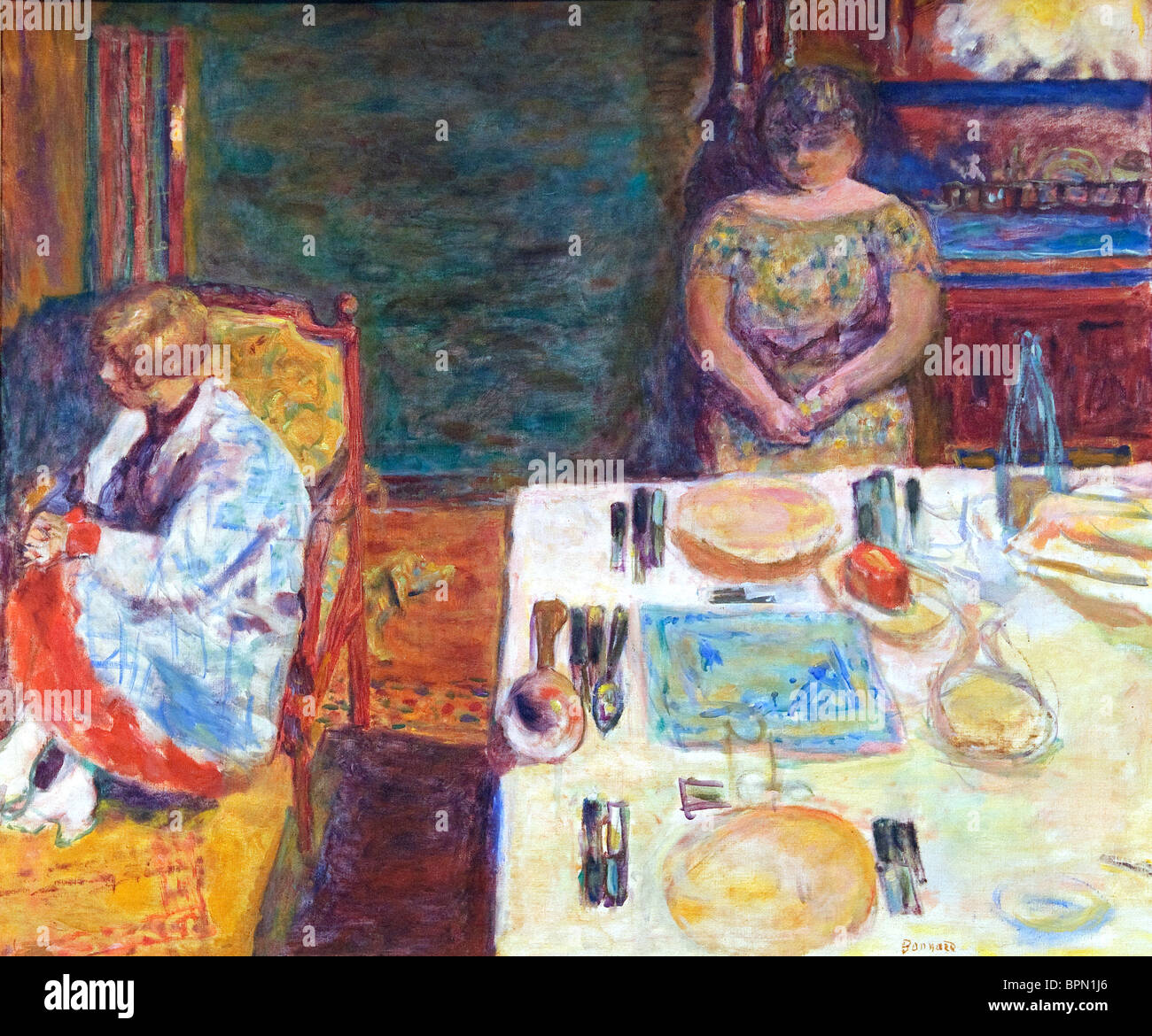 Before Dinner, 1924, by Pierre Bonnard - Stock Image