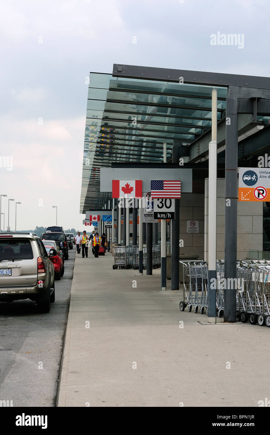 The Passenger Departure Area Of Ottawa Airport, Ottawa Canada - Stock Image