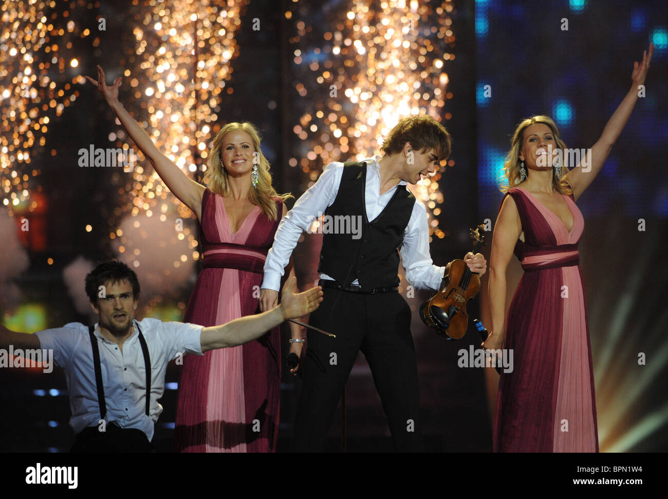 Eurovision 2009 Final rehearsals - Stock Image