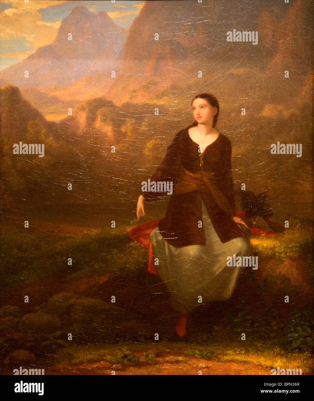 The Spanish Girl in Reverie, 1831, by Washington Allston - Stock Image