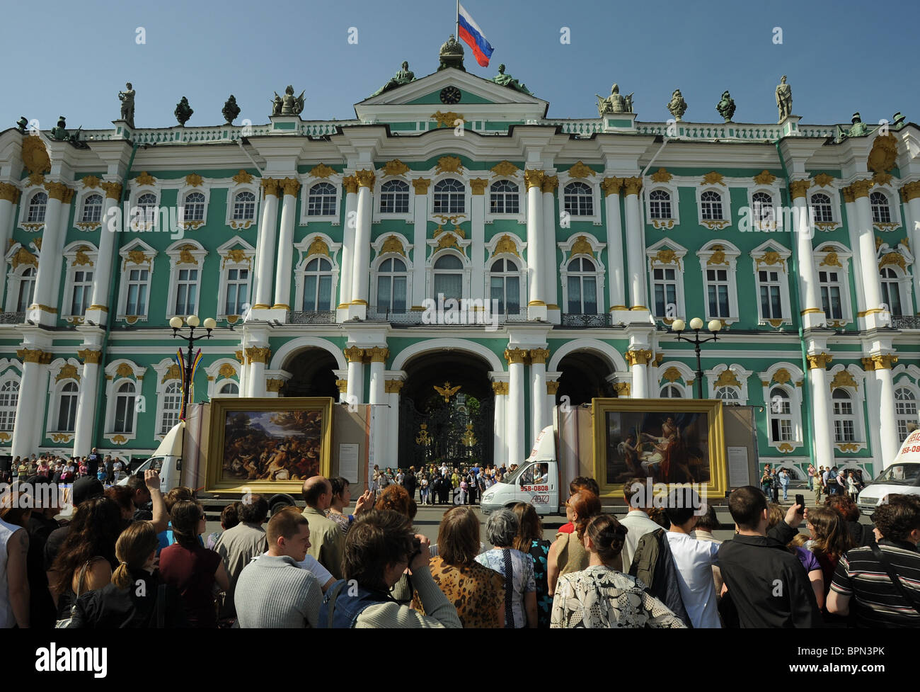 Mobile exhibition of copies of masterpieces from Hermitage collection - Stock Image