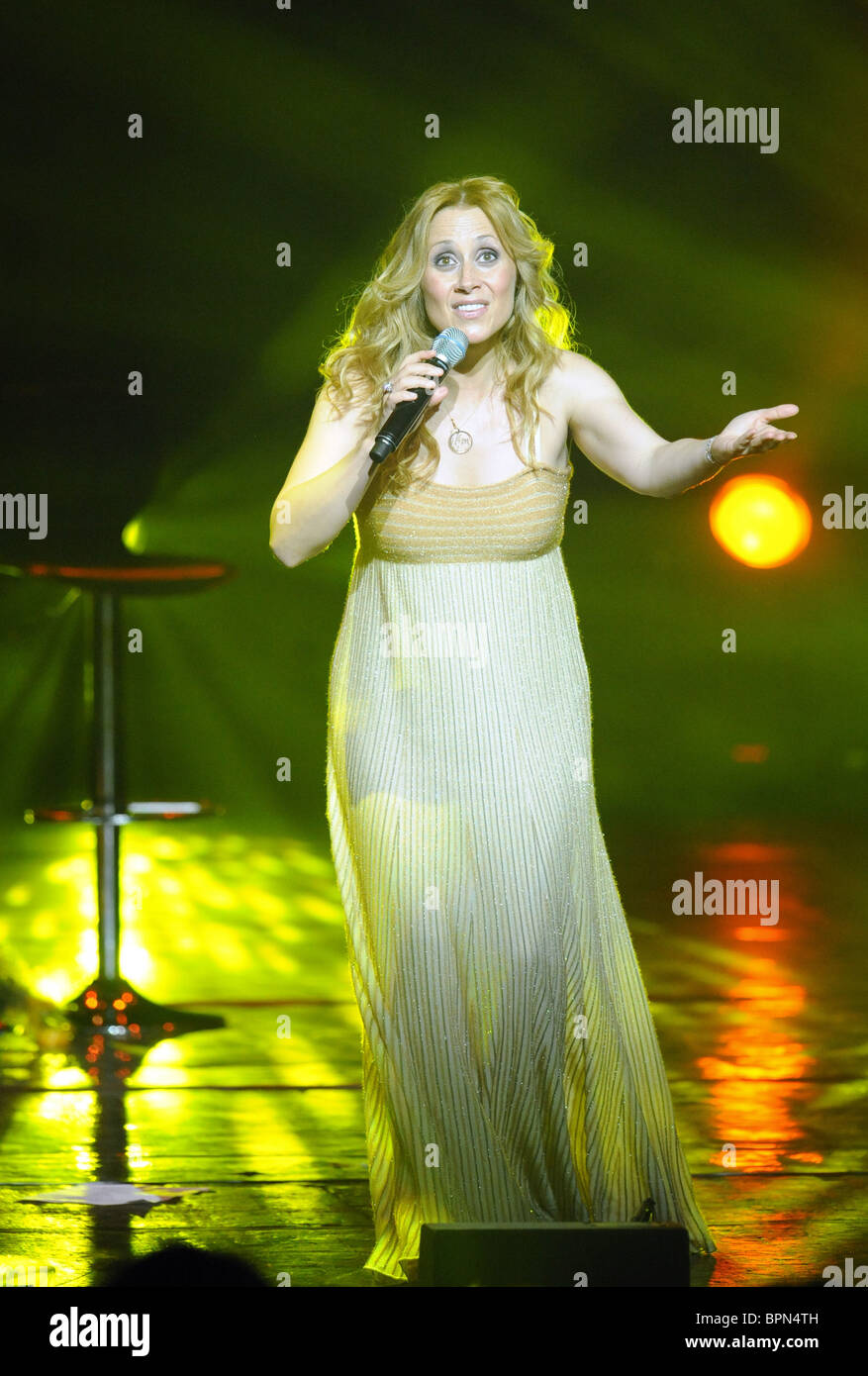 Lara Fabian gives concert in Moscow - Stock Image