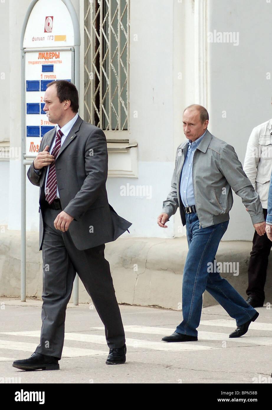 Putin visits Pikalevo in Leningrad Region - Stock Image