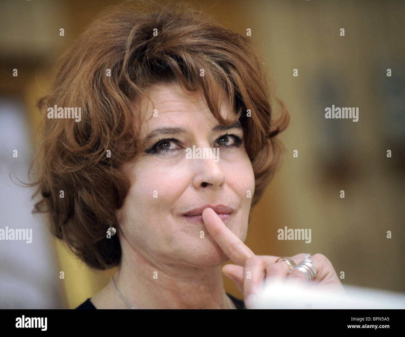 Fanny Ardant attends Moscow arts festival opening - Stock Image