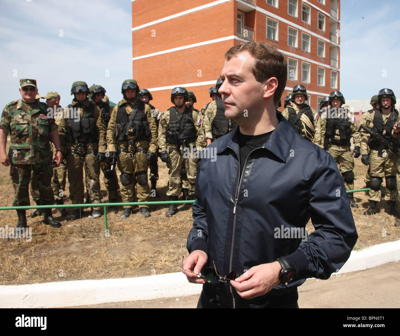 Medvedev visits Dagestan - Stock Image