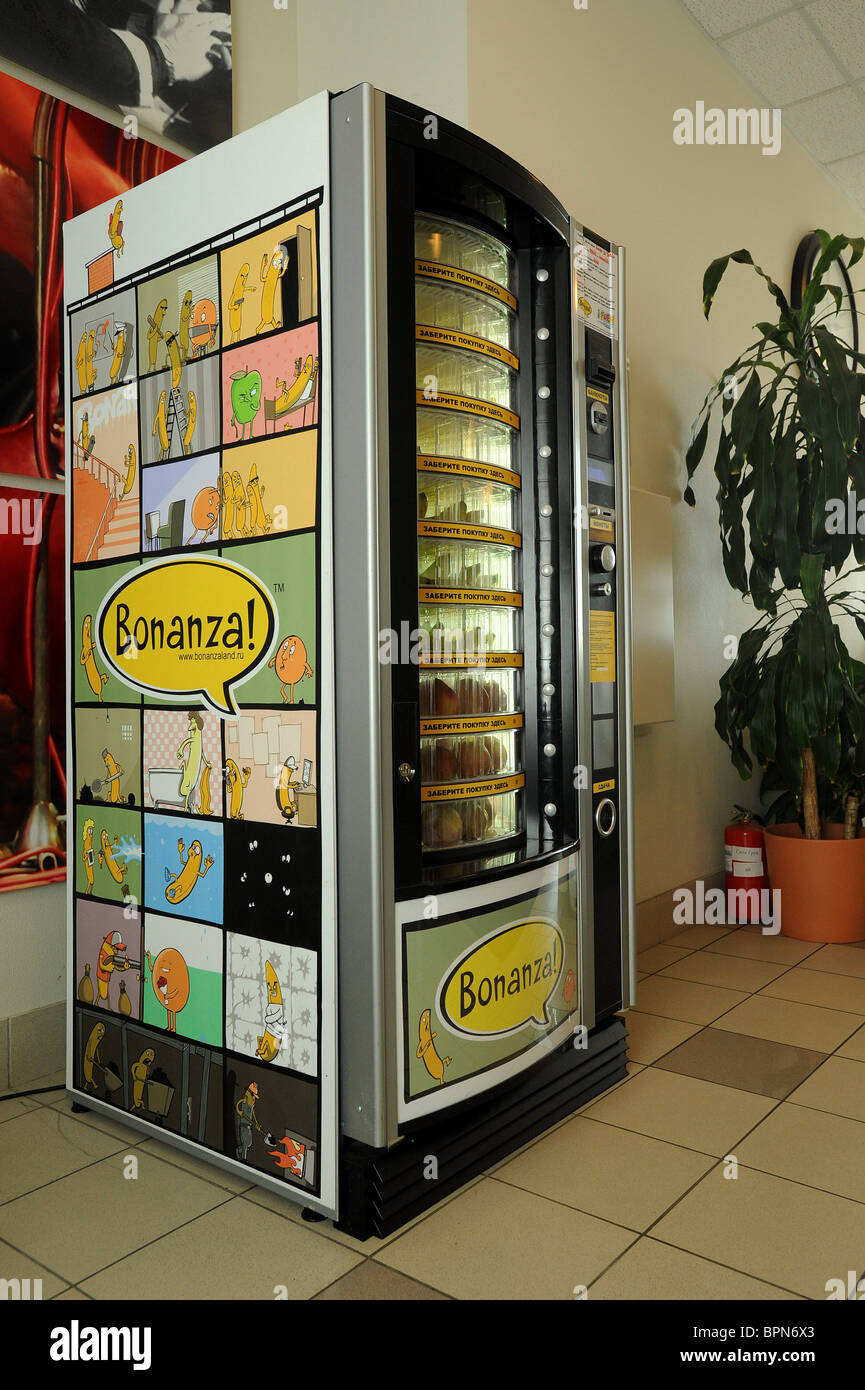 Banana Vending Machine Bonanza Stock Photo