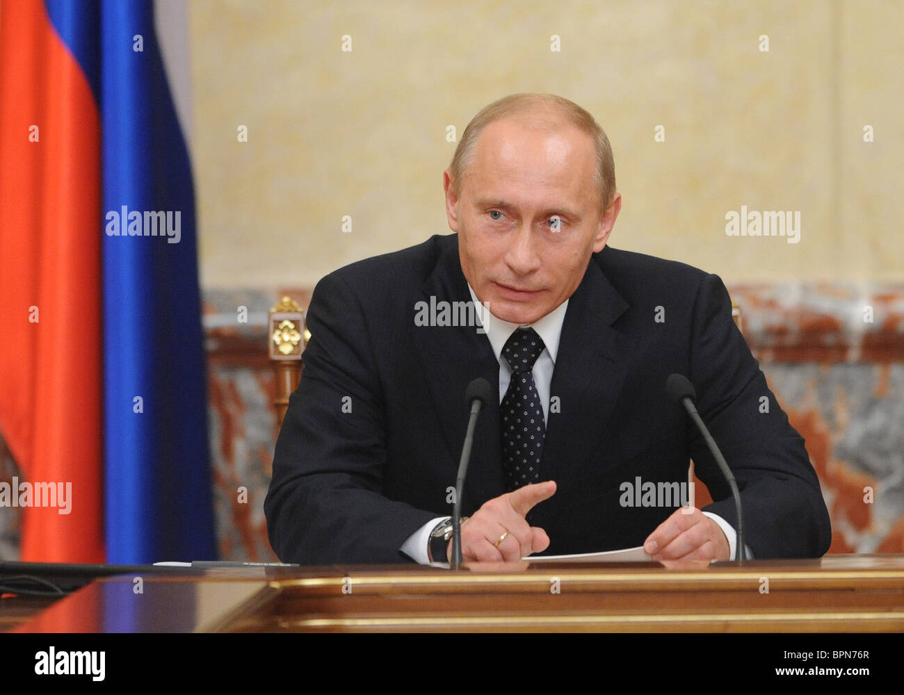 Russian government in session - Stock Image