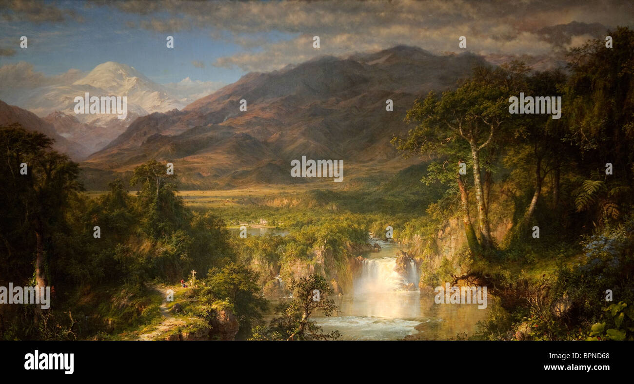 The Heart of the Andes, 1859, by Frederic Edwin Church Stock Photo