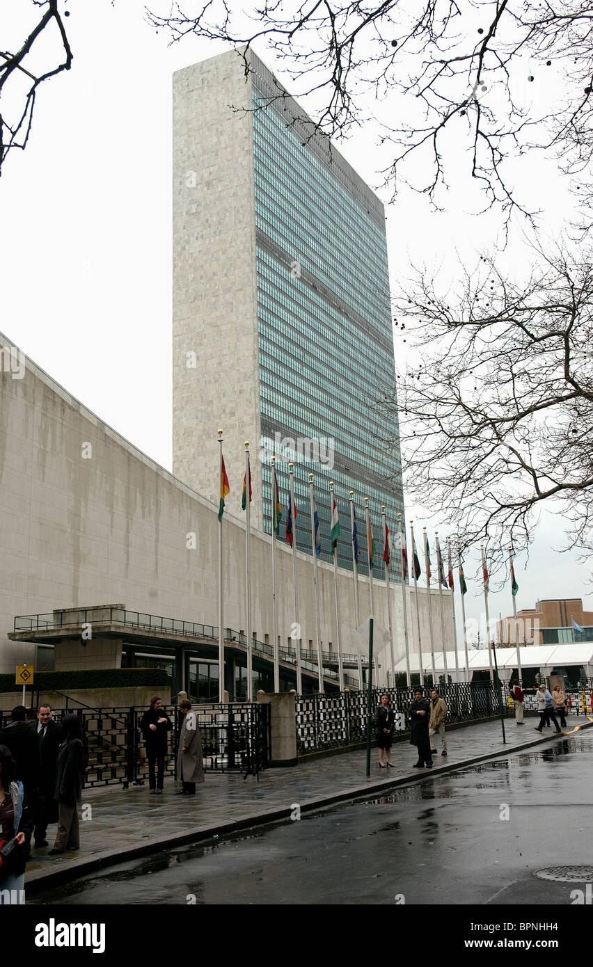 THE UN BUILDING HEADQUARTERS THE INTERPRETER (2005) - Stock Image
