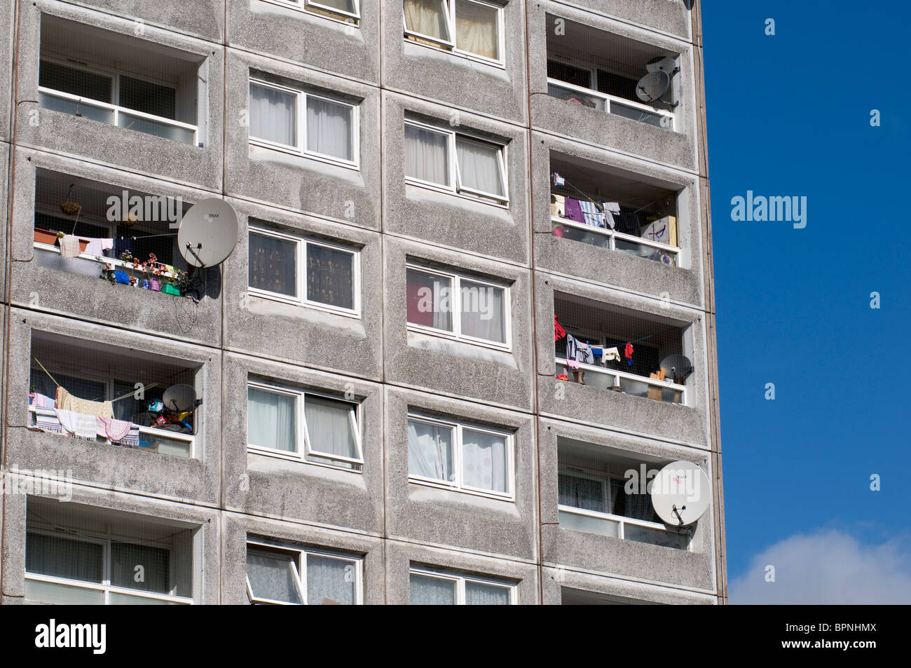 Local Authority, Council Tower Block, Brent, London, United Kingdom - Stock Image