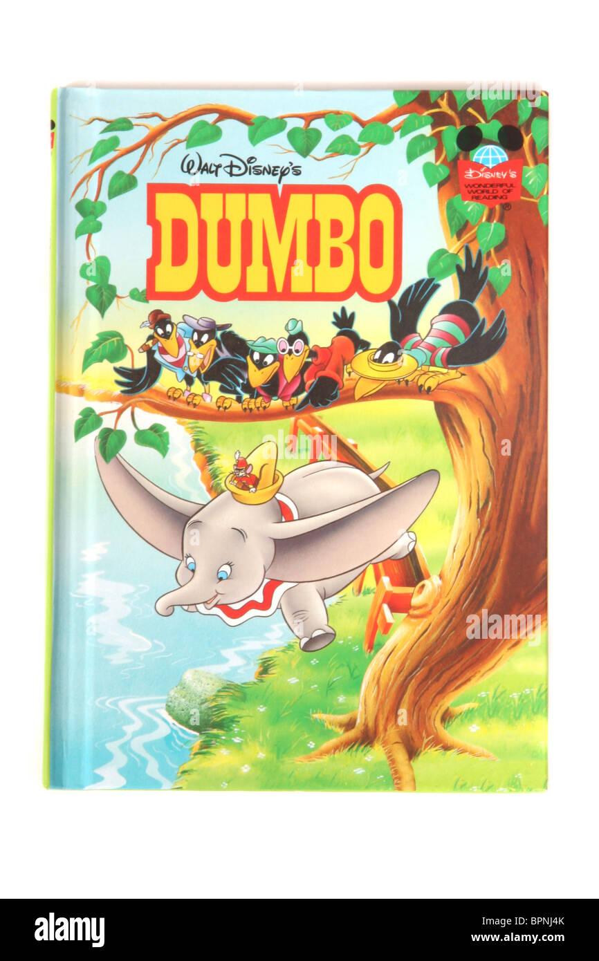 A hardback book by Walt Disney's. The classic fairytale 'Dumbo' - Stock Image
