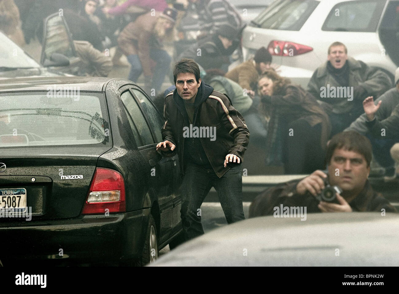 TOM CRUISE WAR OF THE WORLDS (2005) - Stock Image