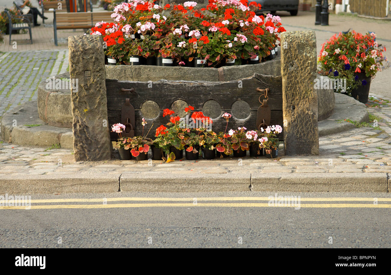 The stocks in Poulton-le-Fylde Lancashire,England Stock Photo