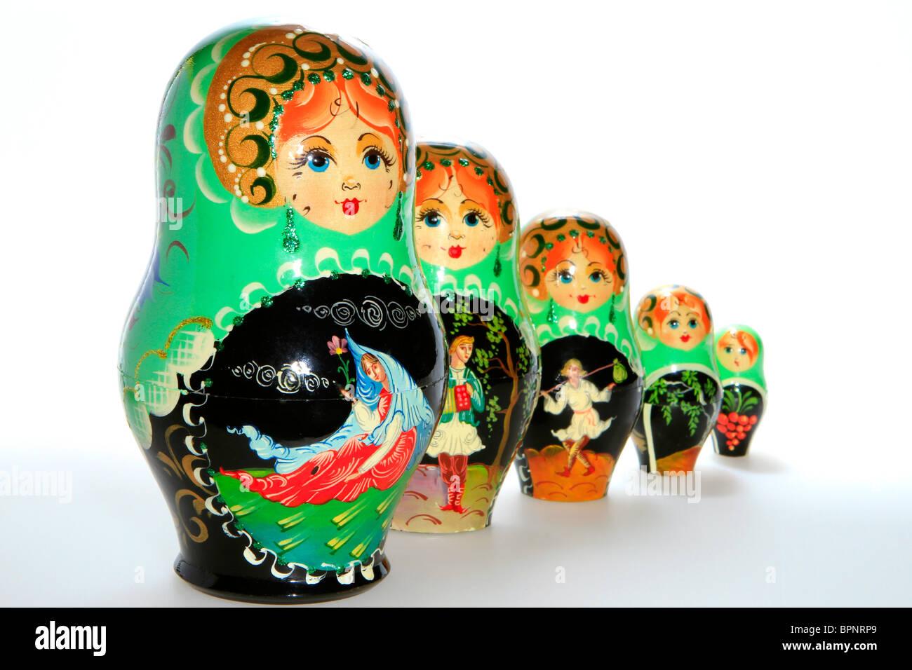 Matryoschkas, Russian dolls Stock Photo