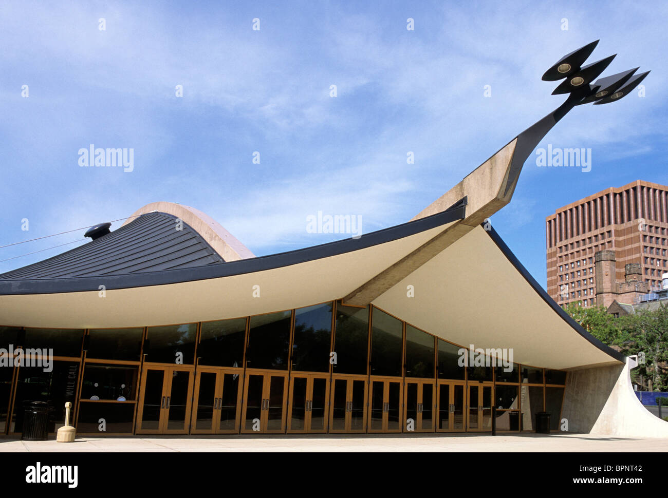 USA New Haven Yale University Ingalls Rink Eero Saarinen - Stock Image