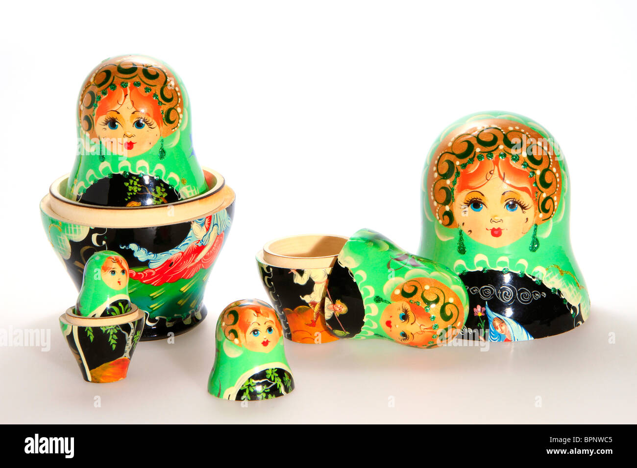 Matryoschkas, Russian dolls Stock Photo