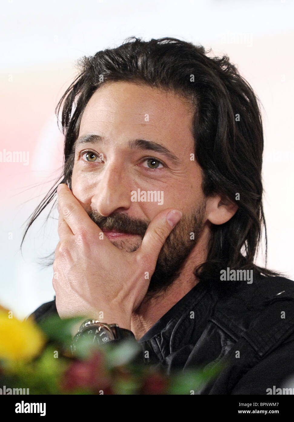 US actor Adrien Brody brings drama Cadillac Records to Russia - Stock Image
