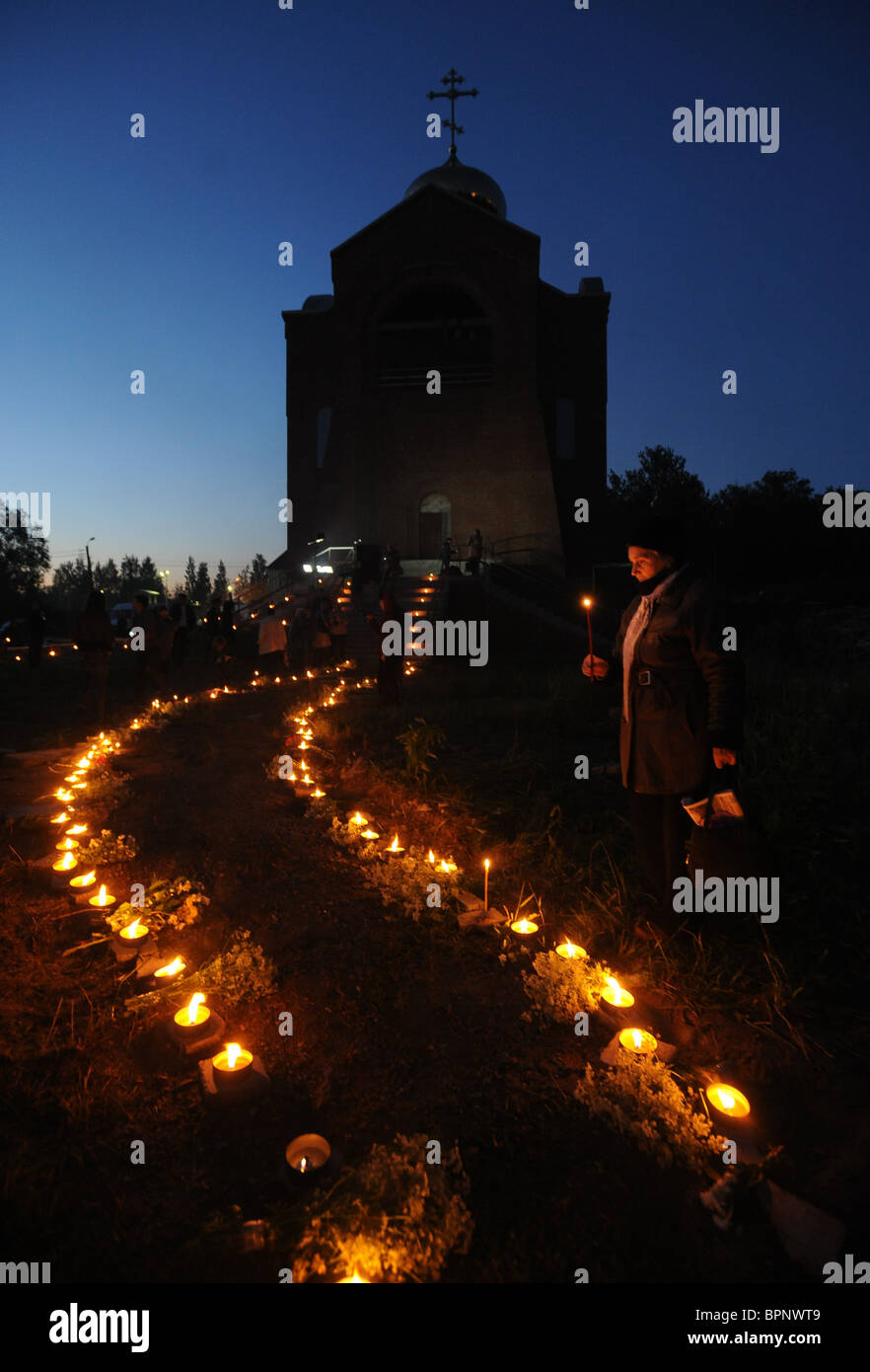 Russians mourn for WWII dead on Day of Memory and Sorrow - Stock Image