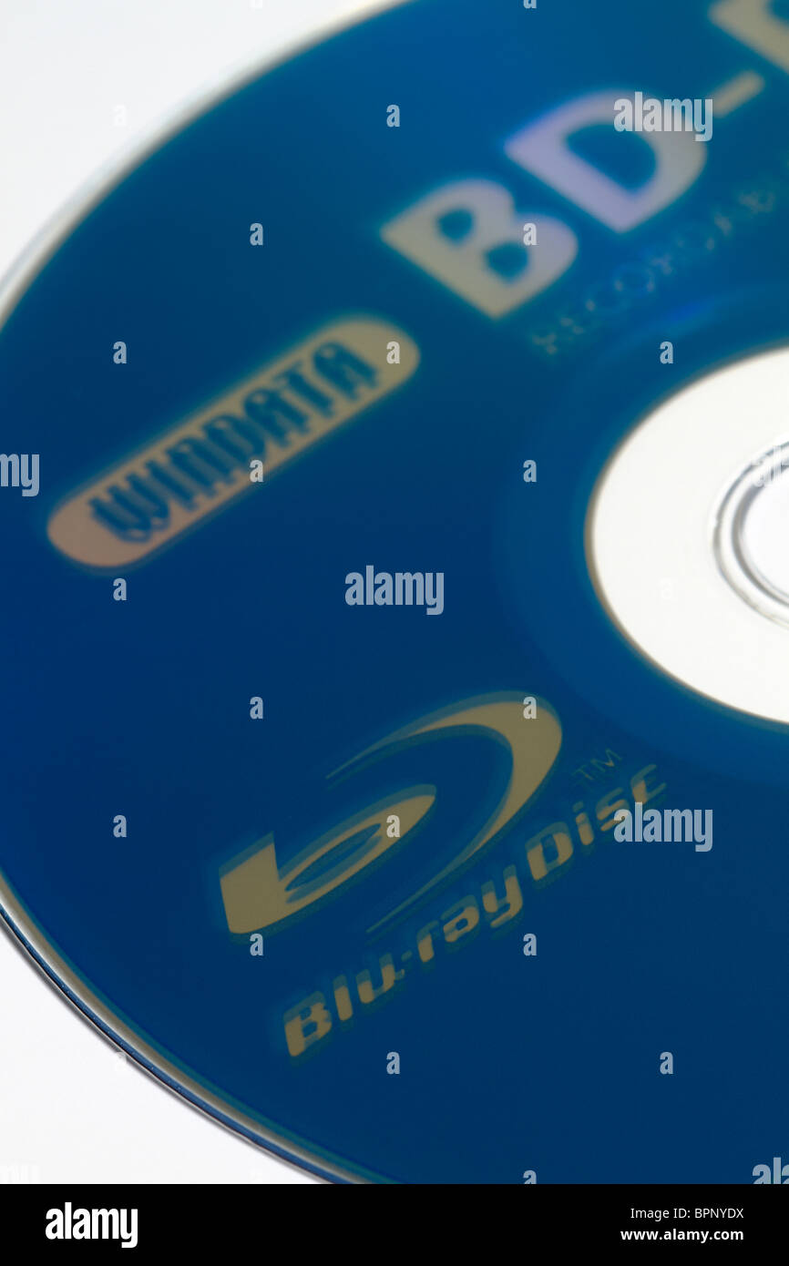 Recordable blu-ray disc made by Windata. - Stock Image