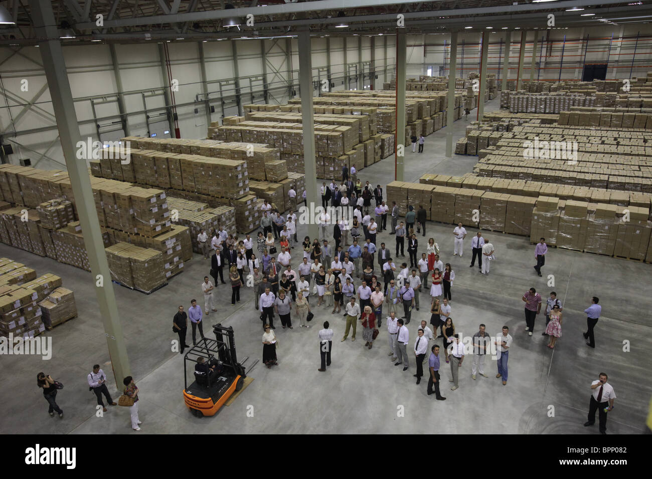 New storage and logistic terminal opened in Kaliningrad - Stock Image