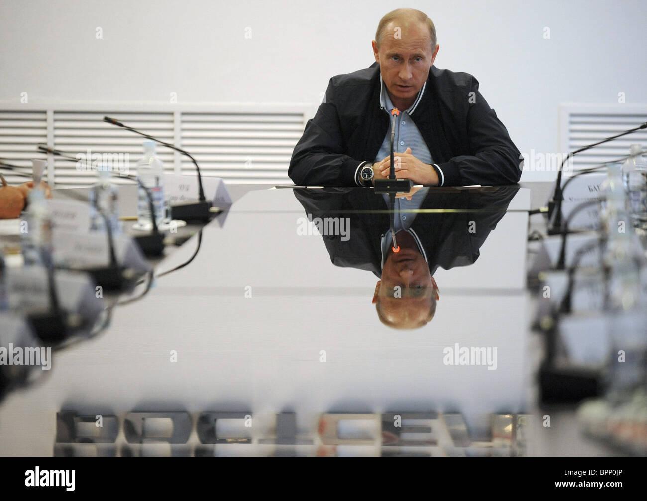 Putin visits Rostselmash Plant - Stock Image