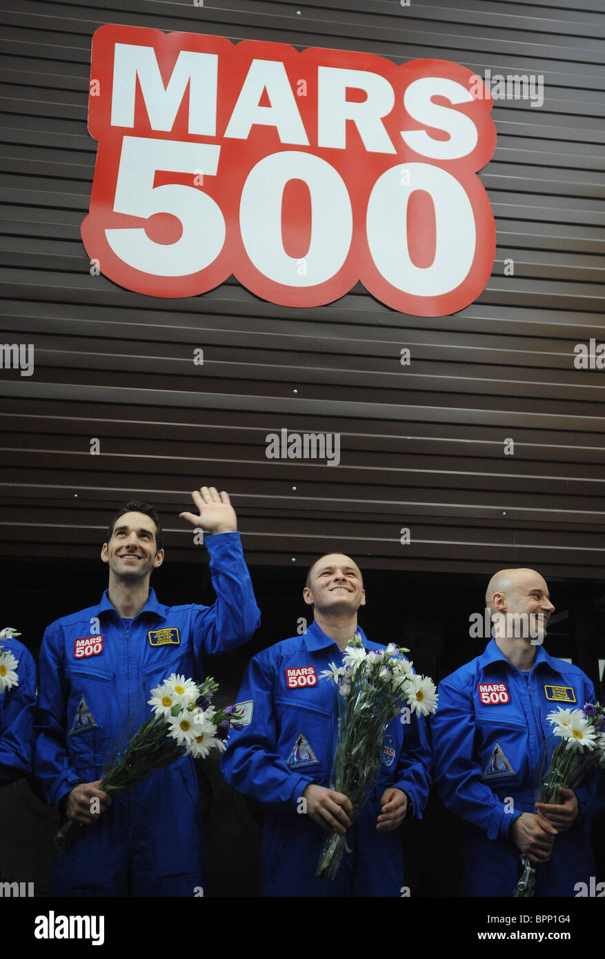 105-day Mars Mission Simulation complete - Stock Image