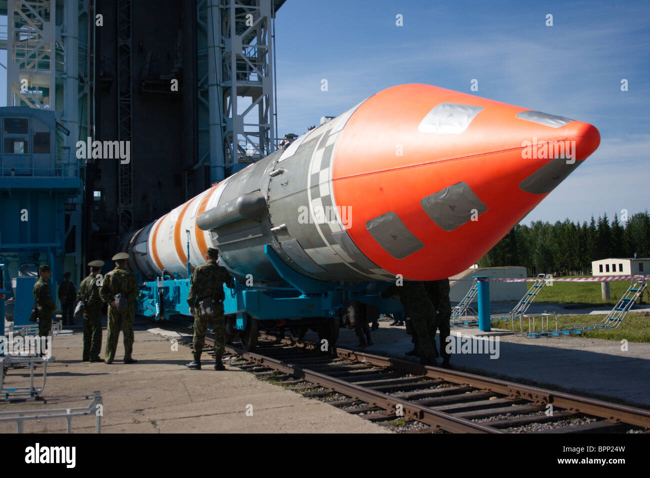 Cosmos-3M booster to launch from Plesetsk Cosmodrome - Stock Image