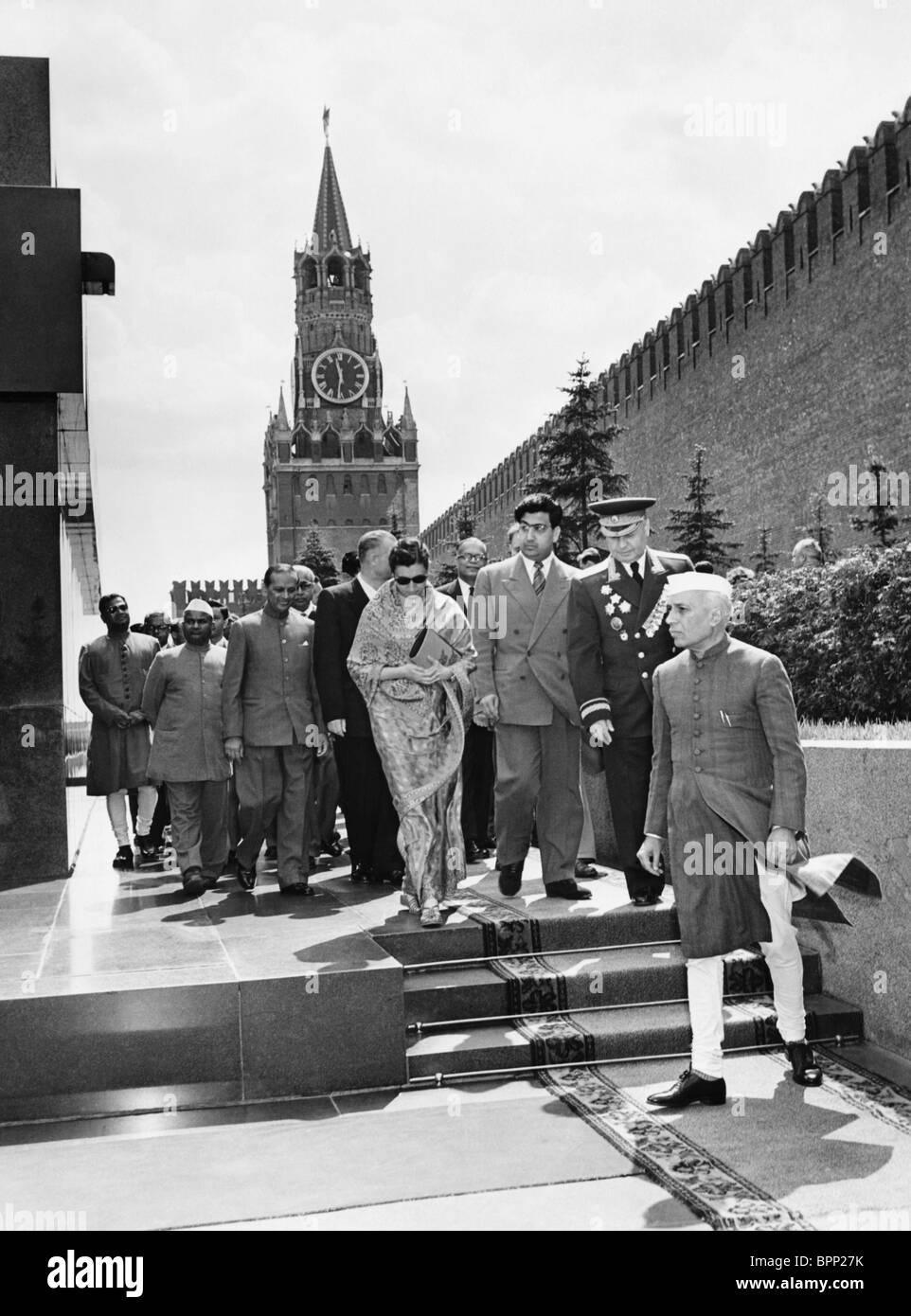 Jawaharlal Nehru visit to USSR, 1955 - Stock Image