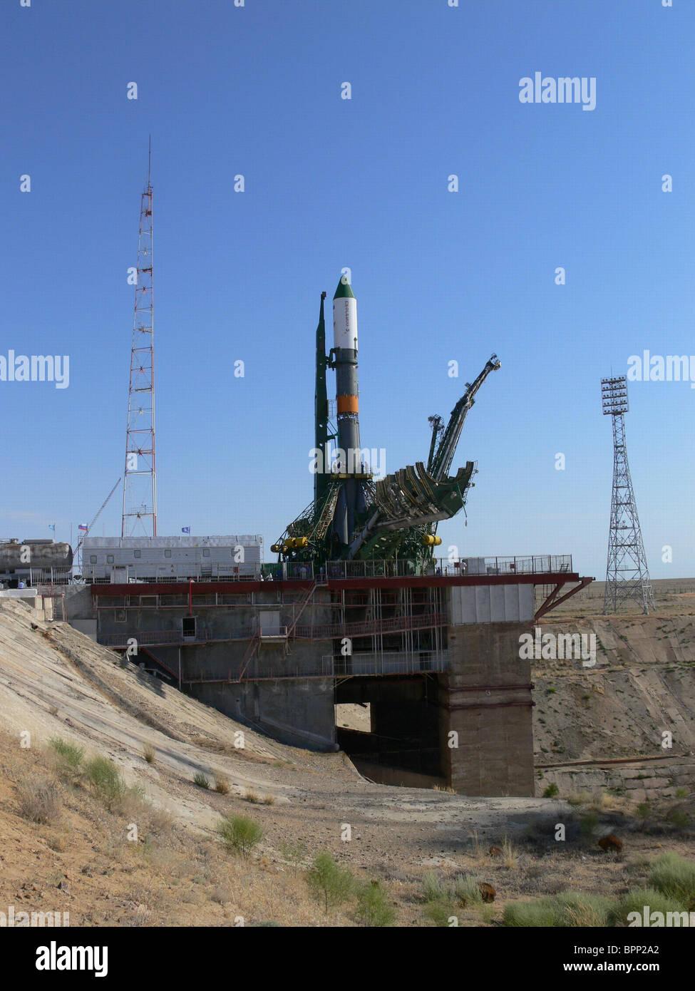 Soyuz-U rocket to launch from Baikonur Cosmodrome - Stock Image