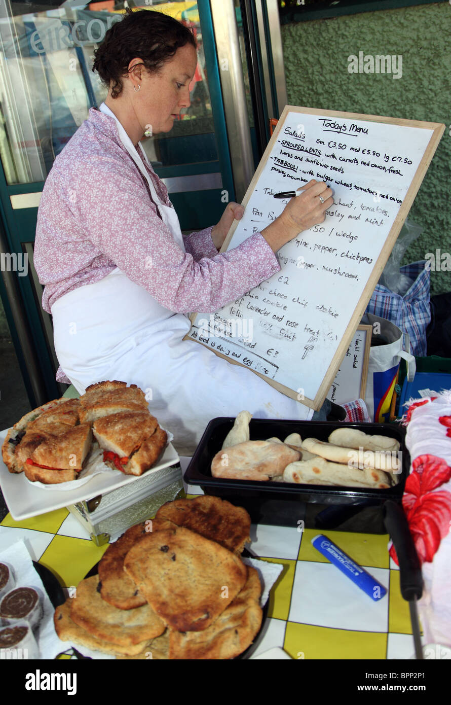Dairy & Egg-free Food to Go, Dingle Farmers Market - Stock Image