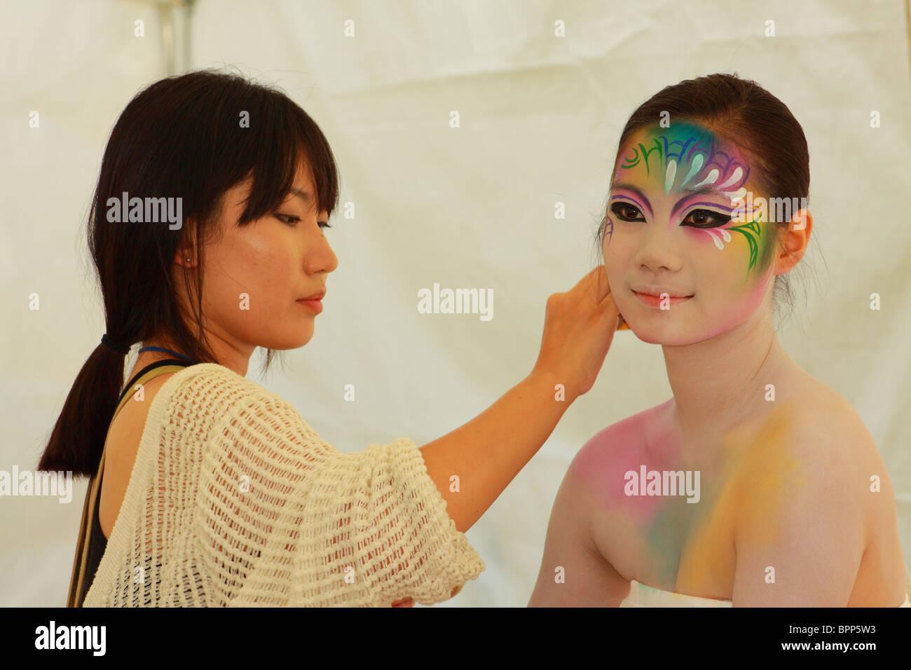 Daegu International Bodypainting Festival Stock Photo