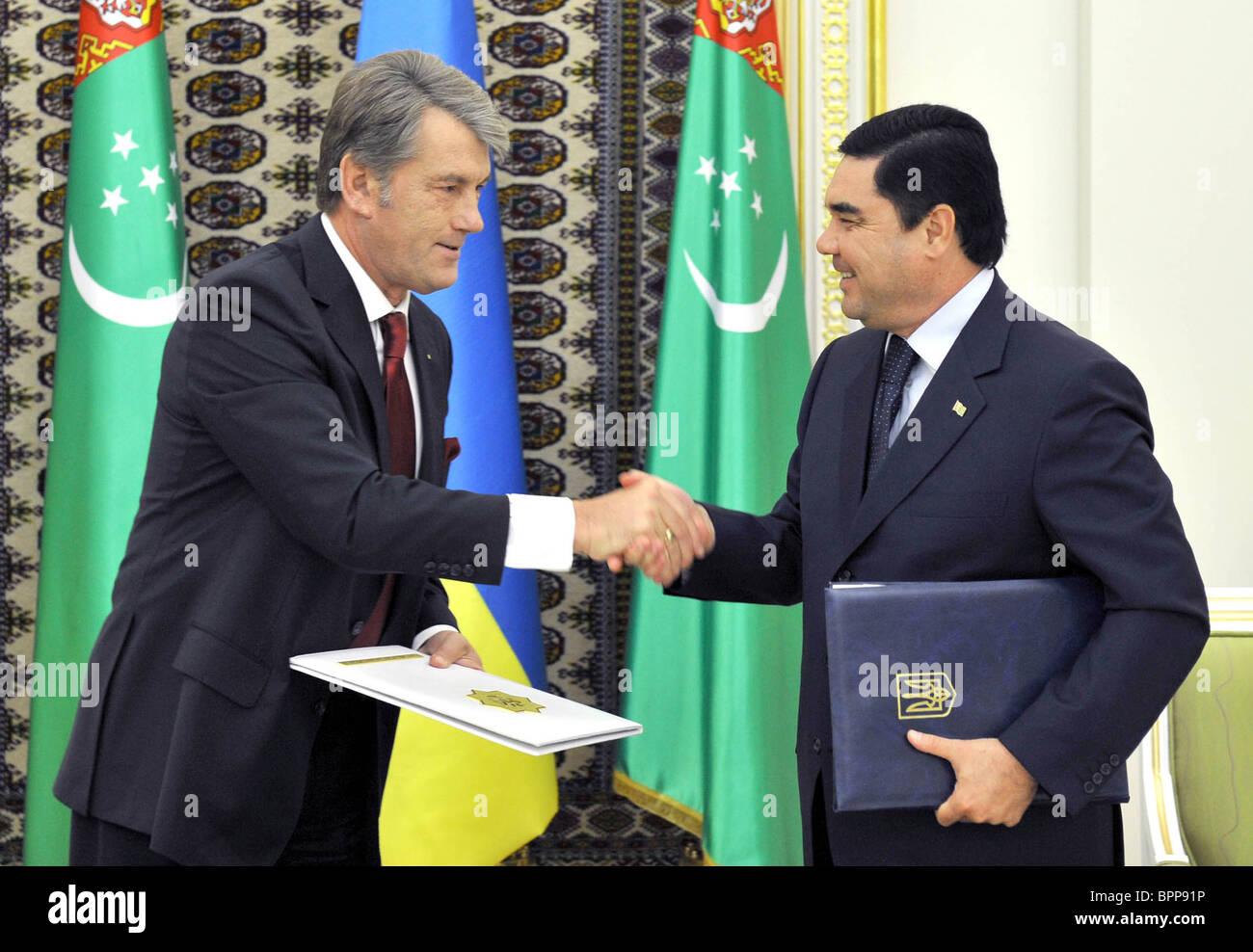 Ukraine president on official visit to Turkmenistan - Stock Image