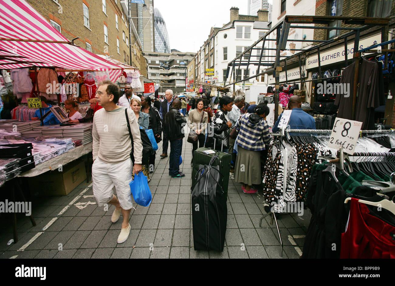 Petticoat Lane Market, east London UK - Stock Image