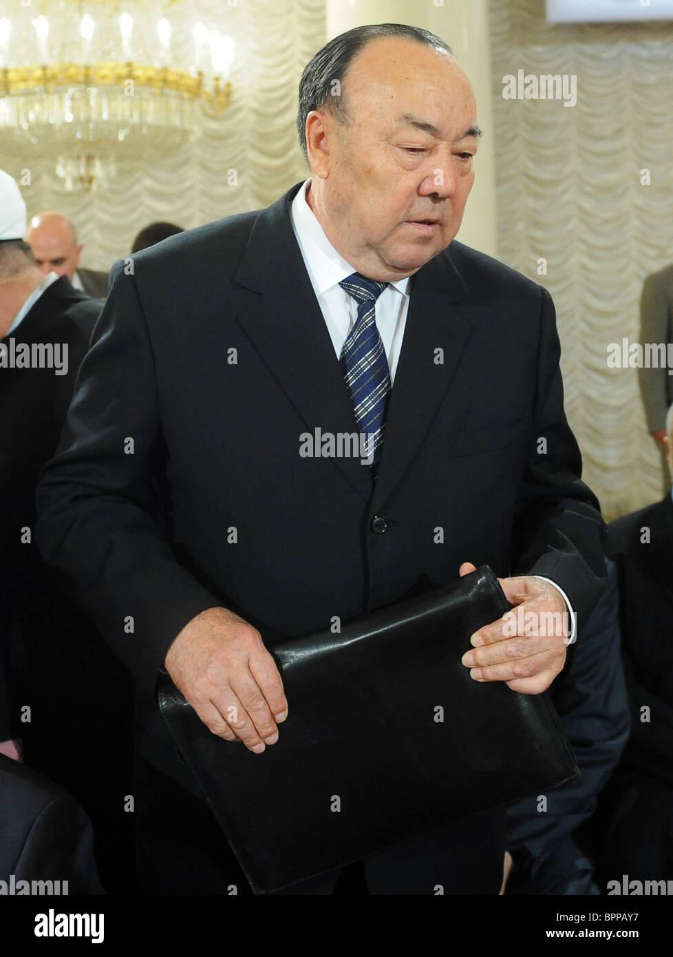 Ingushetia leader receives Al-Fakhr Muslim Award - Stock Image