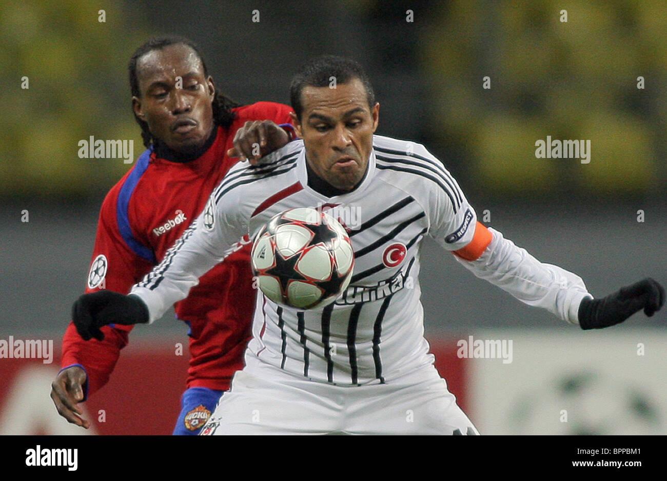UEFA Champions League: CSKA Moscow vs Besiktas - Stock Image