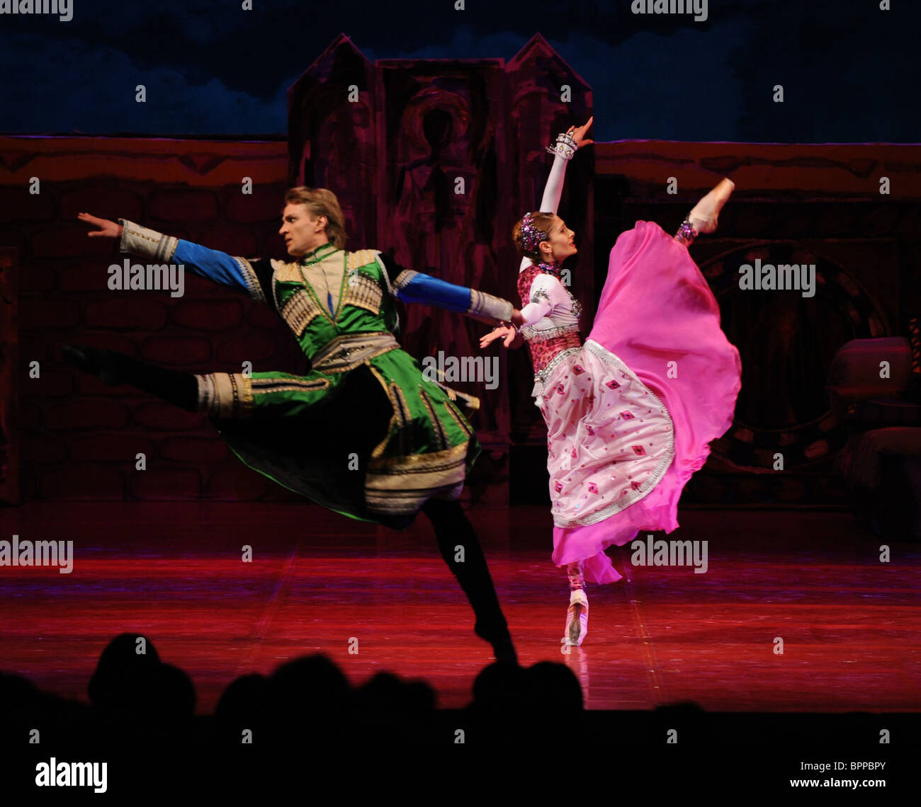 Tamar ballet remake performed at Mikhailovsky Theater Stock Photo